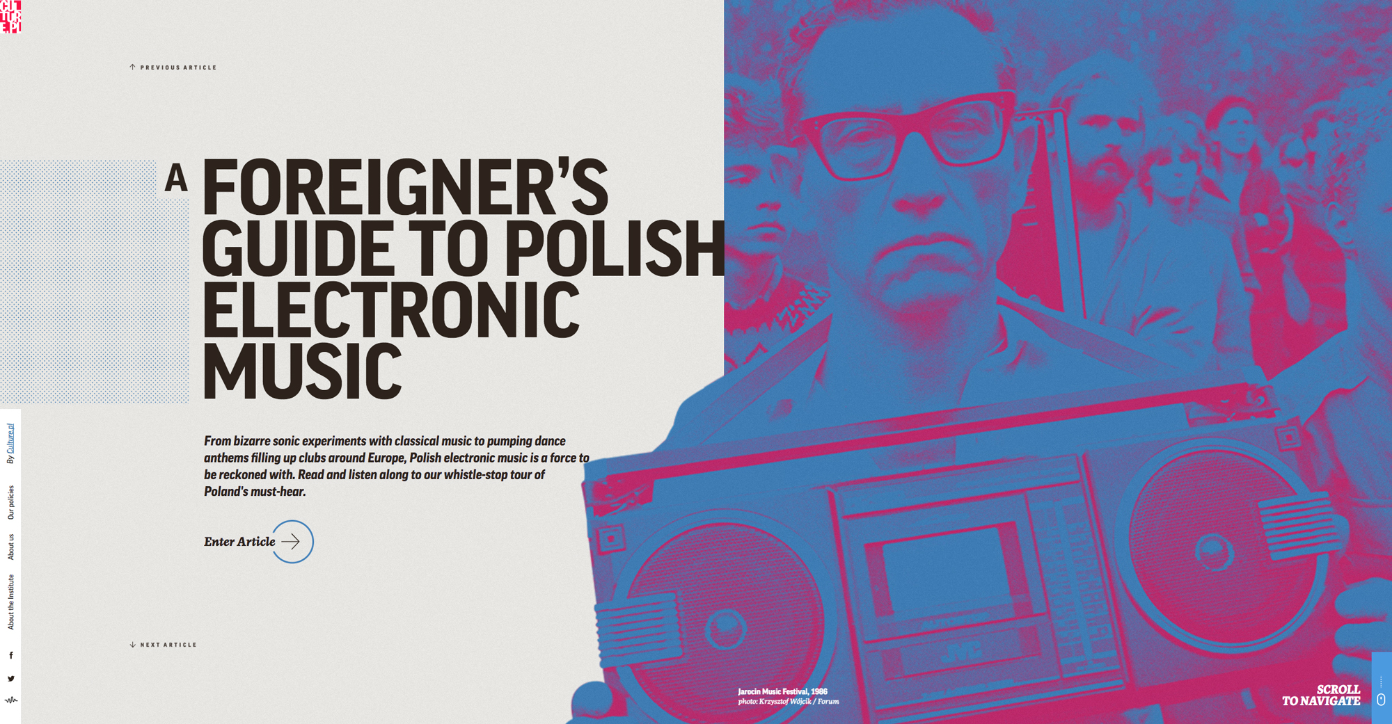 Tendances design web 2017 - Culture.pl - A foreigner's guide to - IDEA Communications