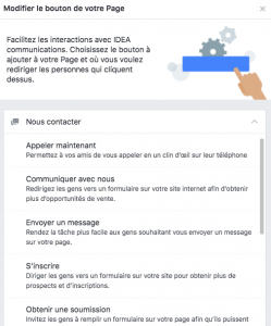 Bouton d'action Facebook - Exemples
