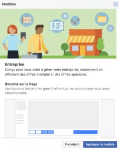 Modele entreprise Facebook - IDEA communicationss
